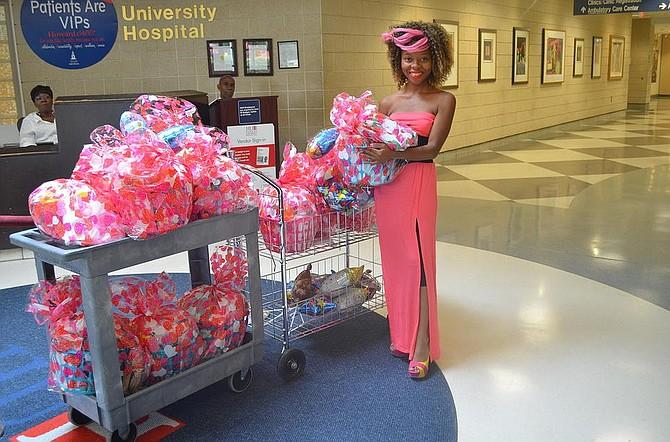 Sara Musa delivering 'baskets of love'